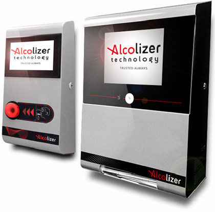 Wall Mount 4 and Centurion alcohol breath testers for Gallagher Security integration with Alcolizer.