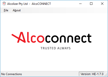 AlcoCONNECT™ Toolbox welcome screen